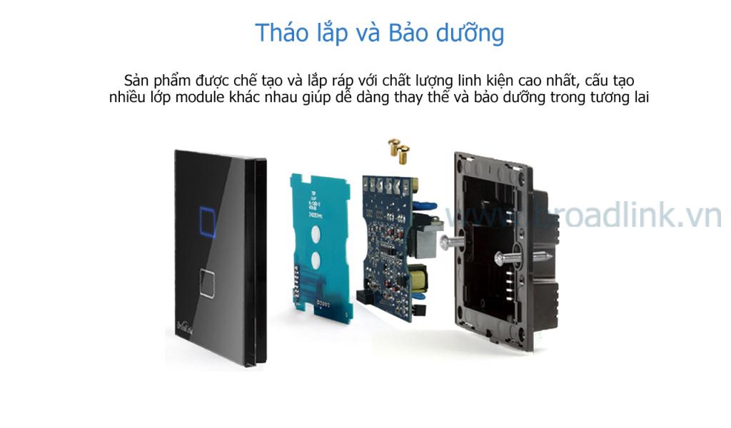 Broadlink TC1 dễ dàng bảo dưỡng sửa chữa do cấu tạo module rời