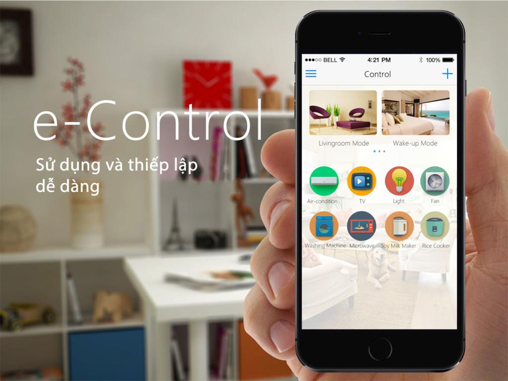 e-Control - Ứng dụng điều khiển nhà thông minh đột phá