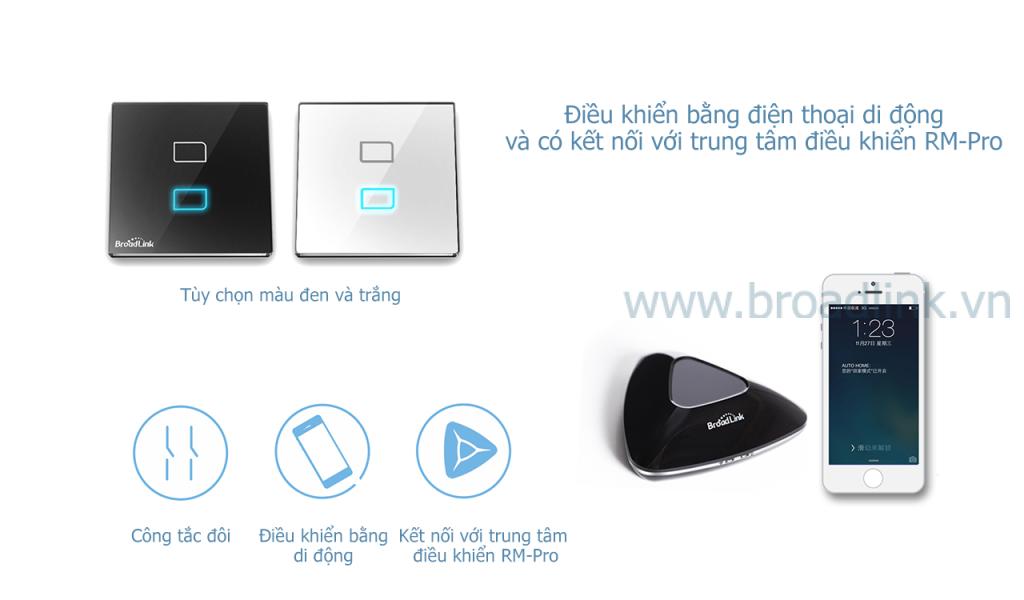 Công tắc thông minh Broadlink TC1 có thể kết hợp với RM-Pro