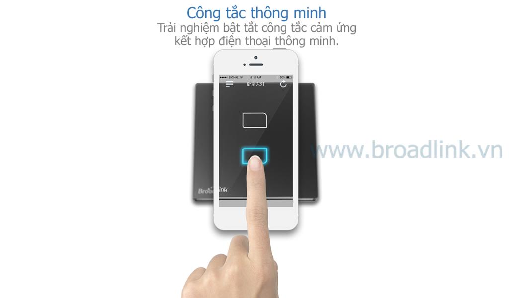Công tắc thông minh Broadlink TC1 có thể điều khiển qua di động