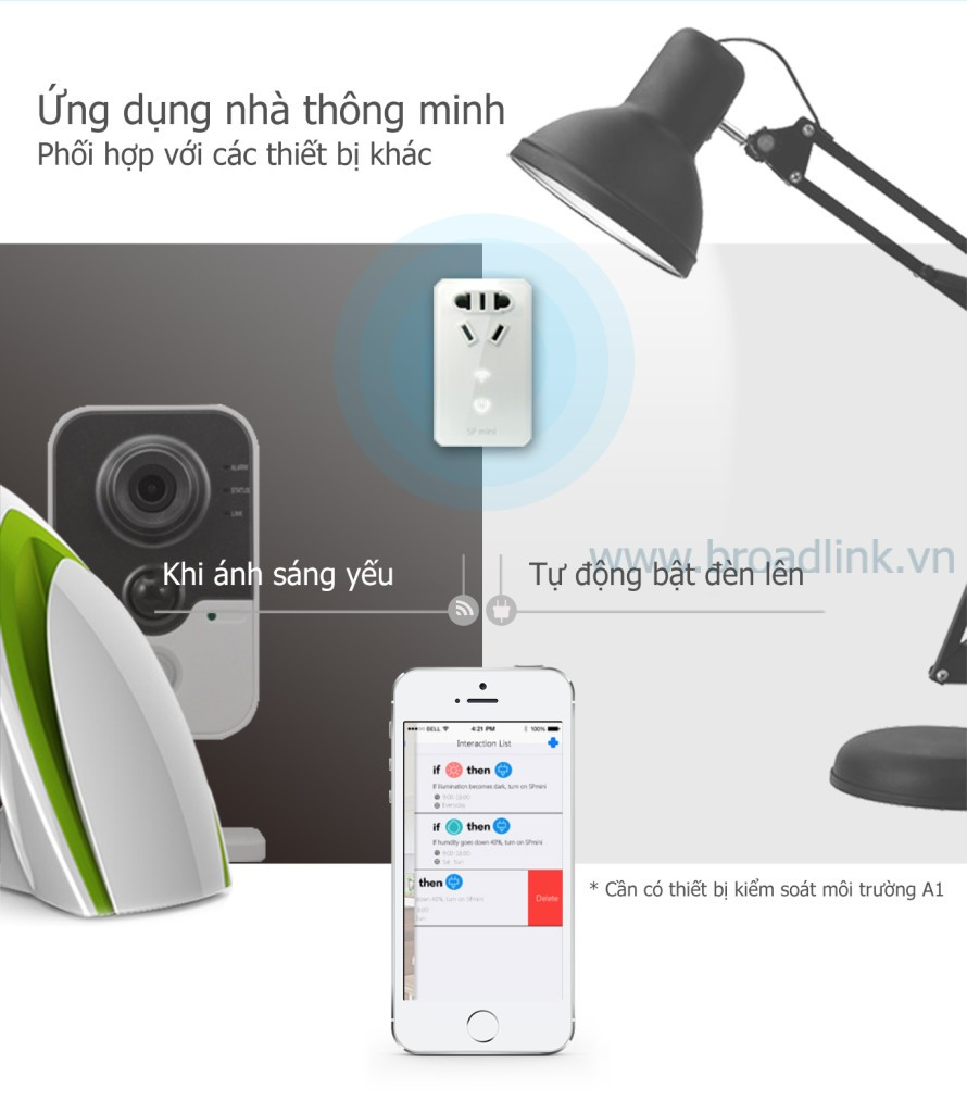 Ổ cắm thông minh Wifi Broadlink SP-Mini dành cho smarthome
