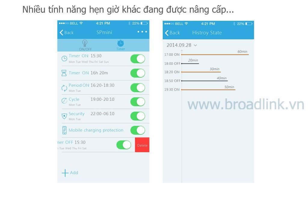 Ổ cắm thông minh Wifi Broadlink SP-Mini nhiều tính năng sẽ được cập nhật