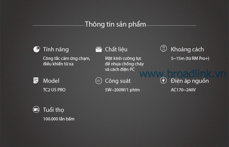 broadlink TC2USPRO thong tin san pham