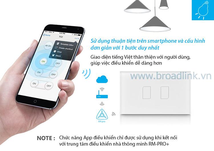 broadlink TC2USPRO dieu khien qua app