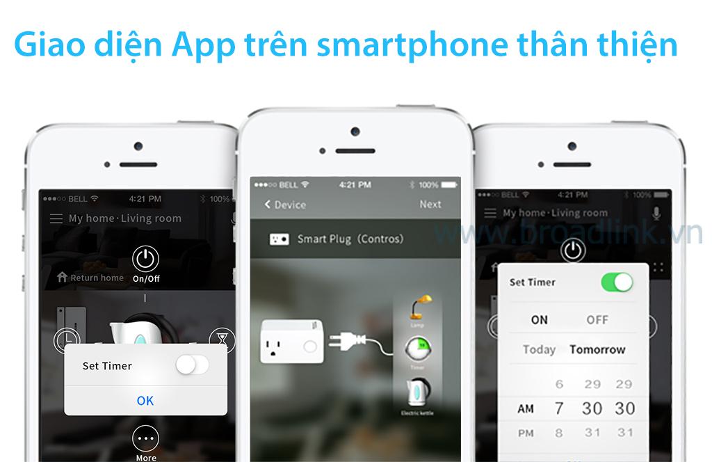 Giao diện app thân thiện với người sử dụng