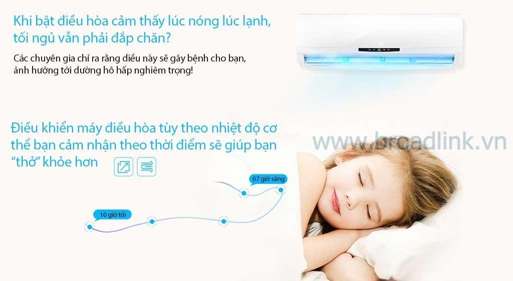 Bộ điều khiển mở rộng hồng ngoại Broadlink RM Mini 3 giúp bạn giấc ngủ ngon bằng việc điều chỉnh hợp lý nhiệt độ theo thời gian