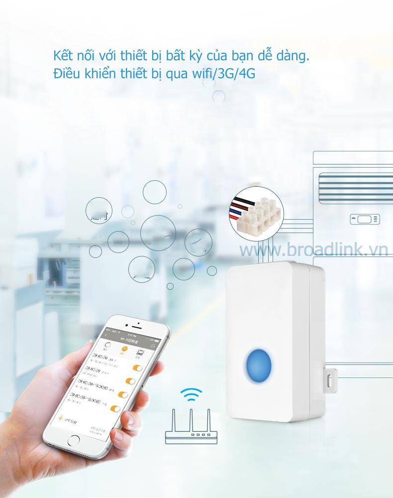 Hộp công tắc thông minh Wifi Broadlink SC1PRO điều khiển từ xa qua wifi